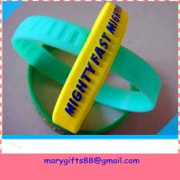 Buy cheap embossed lovely silicone wristband with color from wholesalers