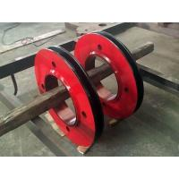 Wholesale AISI 4140 42MoCrMo4 AISI 1045 Forged Forging Steel Crane Wire Sheave Pulley from china suppliers
