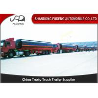 Wholesale Steel  Asphalt Fuel Tanker Semi Trailer Automatic Air Brakes 30 - 70 Cubic from china suppliers