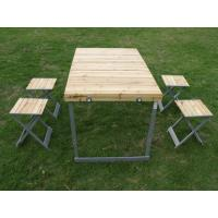 Wholesale Custom Outside Folding Camping Table And Chairs Set With Aluminum Legs from china suppliers
