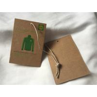 Wholesale 3 Colors Brown Kraft Paper Hang Tag , 3mm Cotton / Linen Cord Custom Garment Hang Tags from china suppliers
