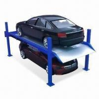 Buy cheap Four-Post Parking Lift with 1.5kW Motor Power, Button Operating and Oil Pressure Driving Mode from wholesalers