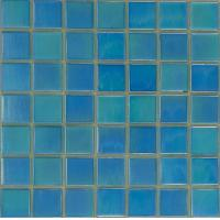 Wholesale 20x20mm Glossy Glass Mosaic Tiles , Swimming Pool Mosaic Wall Tile from china suppliers