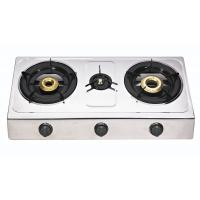 Wholesale 3 Burner Steel Panel Table Top Gas Stove With Round Enamel Pan Support from china suppliers