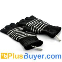 Wholesale Fingerless Gloves for Men (USB Heated, Black) from china suppliers