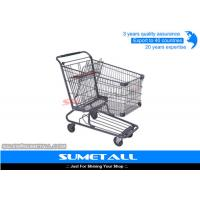 Wholesale Wire Metal Supermarket Shopping Cart / 4 Wheel Shopping Trolley Chrome Plated from china suppliers