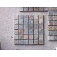 Quality Natural Stone Mosaic Rusty Slate Wall Mosaic Slate Mosaic Pattern Mosaic Floor Tiles Parquet for sale