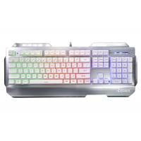 Wholesale RGB Mechanical Keyboard With Multimedia Function Metal Panel Gaming Keyboard from china suppliers