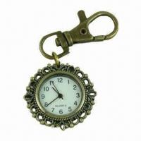 Wholesale Metal Keychain Watch, Excellent Gift for Friend or Family Member, OEM Orders are Accepted from china suppliers