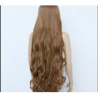 Wholesale Deep Curly Human Hair Wigs Medium Brown Color / unprocessed virgin human hair from china suppliers