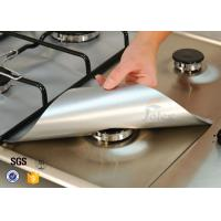 """Wholesale PTFE Coated Fiberglass Fabric 4PCS Silver 10.6"""" x 10.6"""" Gas Range Protectors Stovetop Burner Liners from china suppliers"""