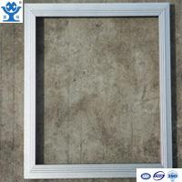 Wholesale Silver anodized matt extruded aluminum LED panel frame from china suppliers