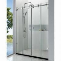 Wholesale Simple Shower Room with 45mm Chassis Height, 8 and 10mm Glass Thickness, Made of SUS304 from china suppliers