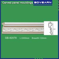 Quality Polyurethane carving wall Mouldings/ Chair rails/ white primed color customized OEM accepted for sale