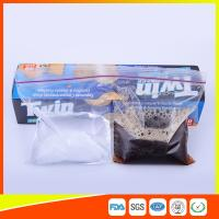 Wholesale 2 Sections In 1 Bag Clear Reusable Food Storage Bags With Zipper Top from china suppliers