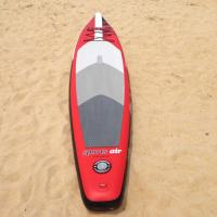 Stand Up Inflatable Standup Paddleboard 3.8meter Length 15cm Width Red Airmat Floor
