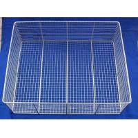 Wholesale Customized Mesh Wire Basket Silver Chrome Plated For Foodstuff / Barbecue from china suppliers