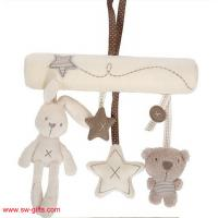 Wholesale Baby Rabbit Toy Baby Bed Stroller Hanging Rattle Plush Soft Musical Mobile Toy Carriages from china suppliers