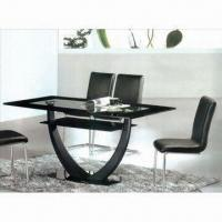 Wholesale Dining Table with 12/15mm Toughened Glass, Iron Pipes, Measures 1,600 x 900 x 750mm from china suppliers
