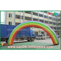 Quality 7mL X 4mH Giant Inflatable Entrance Arch / Rainbow Arch Oxford Cloth for Event for sale