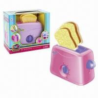 Wholesale 3-piece Plastic Wind Up Toaster Kitchen Set/Toys, Sized 17 x 14 x 8cm from china suppliers