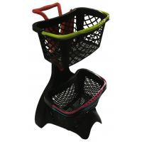 Wholesale 580x480x980 Plastic Shopping Basket Trolley With 3 Inch TAPE Wheel from china suppliers