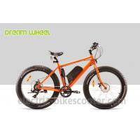 Wholesale 48 Volt 4 Inch Electric Beach Bike Fat Tire Snow Bicycle Orange With Front Motor from china suppliers