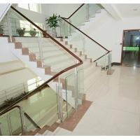 Wholesale Low Emittance Safety Colour / Clear Tempered Glass Panel For Stairs , Polished Edge from china suppliers