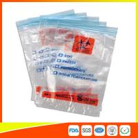 Wholesale Zip Seal Medical Transport Bags For Hospital , Biohazard Ziplock Bags from china suppliers