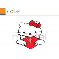 Buy cheap Stylish Plastic Wall Sticker Clock Hello Kitty Modern Alarm Clocks from wholesalers