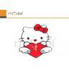 Buy cheap Stylish Plastic Wall Sticker Clock Hello Kitty Modern Alarm Clocks from wholesalers
