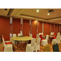 Wholesale Bare Finish Folding Partition Walls , Acoustic Movable Partition For  Wedding Facility from china suppliers