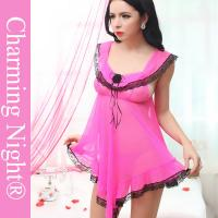 Buy cheap Super Sex Women Sleepwear Latest Fashion Sexy Transparent Babydoll Lingerie For Women from wholesalers