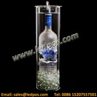 Wholesale Acrylic Cylinder Grey Goose Locking Bottle Service Display from china suppliers