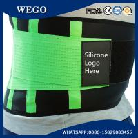 Wholesale WG-LS004 Green Neoprene Adjustable Green Waist Trimmer Belt Body Shaper Back Brace from china suppliers