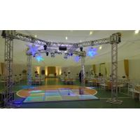 Buy cheap 3 Level Adjustable Height Arclic Glass Portable Movable Stage Platform 400KG Loading Capacity 4 X 4ft from wholesalers