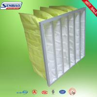 Wholesale F7 F8 Yellow Dust Collector Filters , Baghouse Filters 90%-95% Efficiency from china suppliers