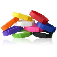 Buy cheap custom imprinted silicone bracelets USB 2.0 flash drive 128MB, 256MB, 512MB, 1GB, 2GB, 4GB, 8GB, 16GB, 32GB from wholesalers