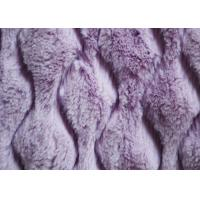 Wholesale 75D / 155D Purple PV Plush Fabric For Clothes OEM / ODM Available from china suppliers