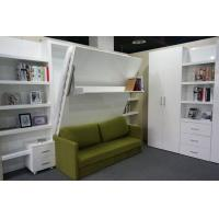Buy cheap Hotel Use Double Wall Bed with Sofa and Shelf , White Color E1 Grade Material from wholesalers
