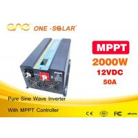 Wholesale Dc To Ac Pure Sine Wave Off Grid Solar PV Inverter 2000w 24v 110v from china suppliers