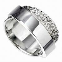 Wholesale Stainless Steel Ring, Harmless to Skin, Eco-friendly, OEM Orders Accepted from china suppliers