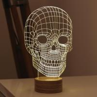 Wholesale Amazing 3D Illusion Light Skull LED Table Lamp Night Light from china suppliers