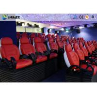 Buy cheap Interactive Cinemas 5D Movie Theater Be Equipped With Black Motion Seats from wholesalers