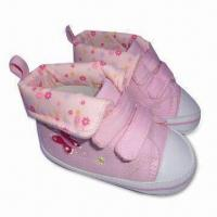 China Soft Sole Baby Shoes with Canvas Upper and Textile Lining, Available in Various Colors on sale