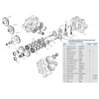 Quality Cat320B Excavator Rexroth Hydraulic Pump Parts A8VO107 / A8VO55 / A8VO80 for sale
