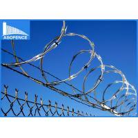 Wholesale BTO-22 galvanized silver razor wire / ELECTRIC RAZOR BARBED WIRE MESH from china suppliers