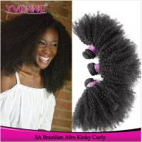 "Wholesale best afro kinky human hair 24"" human hair weft weave from china suppliers"