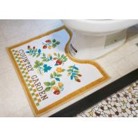 Wholesale Pastoral style Slip-resistance customized brown Toilet Floor Mat for bath room from china suppliers