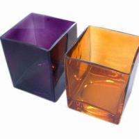 Wholesale Glass Vase with Modern and Fresh Style Design, Square Vase  from china suppliers